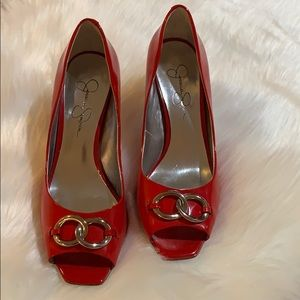 "Jessica Simpson Red Patent Leather ""rocky"" 8B/38"